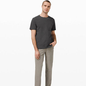 Lululemon Graphite Grey Chest Pocket Relaxed Fit Tee
